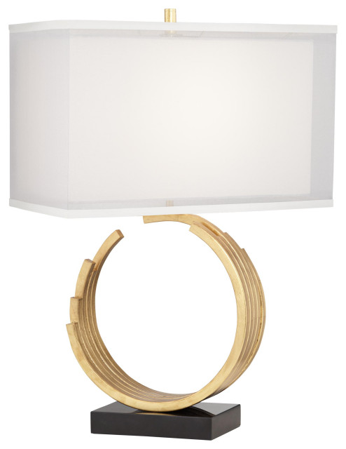 pacific coast lighting metal and marble table lamp with gold leaf finish 37v18