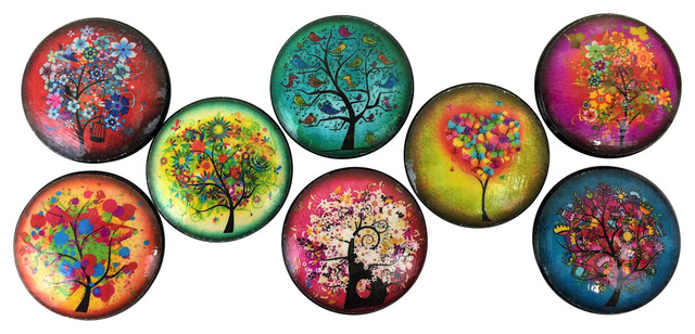 8 Piece Set Funky Trees Cabinet Knobs Contemporary