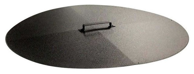 Round Fire Pit Cover Snuffer Transitional Fire Pit Accessories By PiTTopper