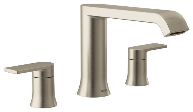 moen t908 genta 2 handle modern roman tub faucet brushed nickel