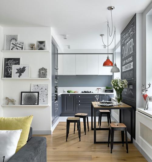 Квартира в серых тонах / gray apartment