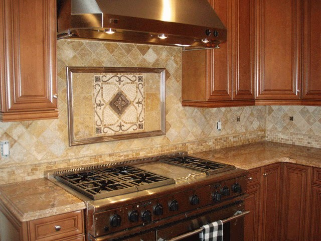 Medallions Traditional Kitchen San Go By Metalcoat Tile Backsplash With Copper Medallion Accent Jl Kitchen Backsplash Metal Medallions Plaques