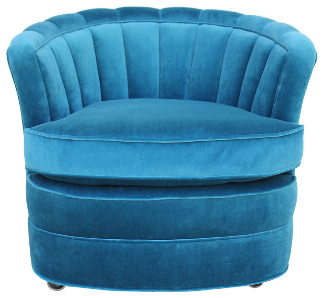 Teal Velvet Accent Chair