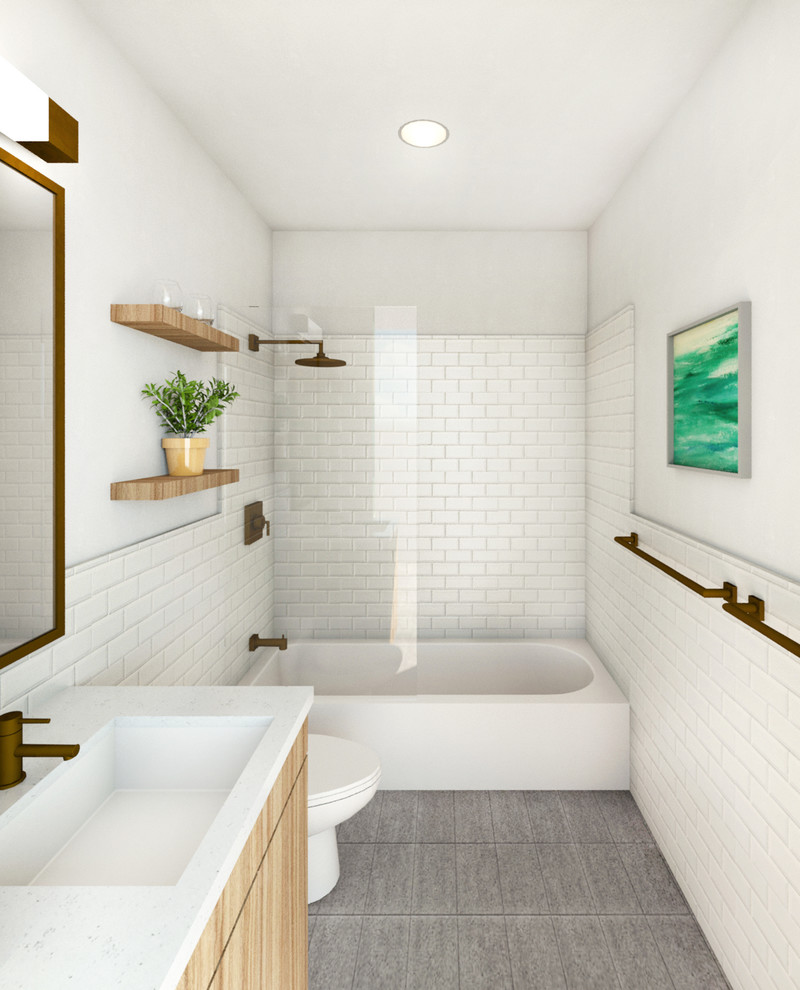 Warm Modern Home Modern Bathroom New York By Anda Design Build Group