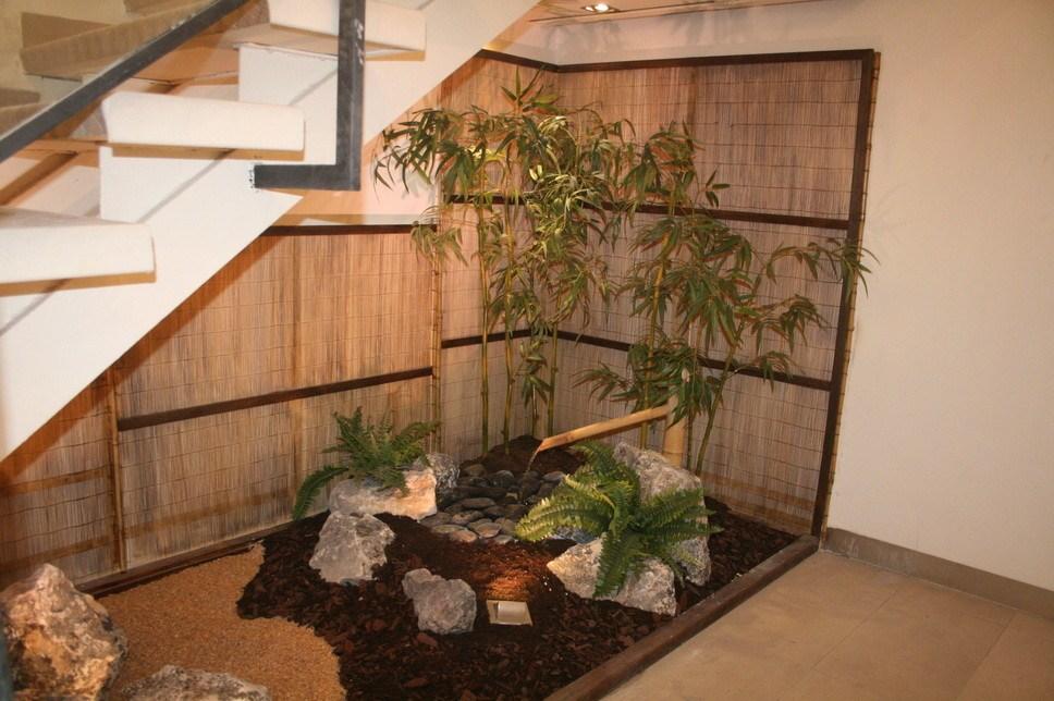 Zen Garden Under Stairs Asian Landscape London By The | Under Stair Garden Design | Plant | Ideas | House | Stair Case | Pebble Garden