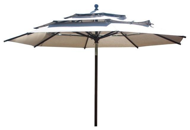 11 round market umbrella tilt pulley canvas bay brown sunbrella cushion