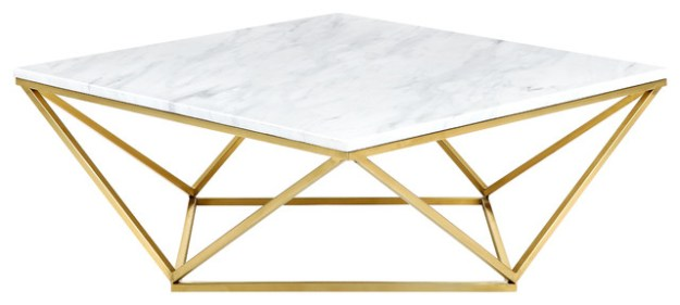 bay point coffee table, gold - contemporary - coffee tables -