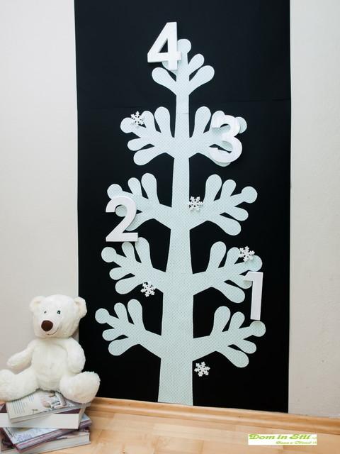 advent calendar, paper Christmas tree, Christmas 2012 contemporary
