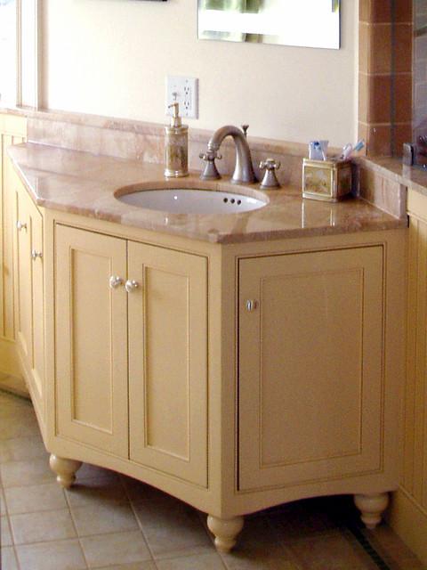 Angled Vanity With Bun Feet Traditional Bathroom Other