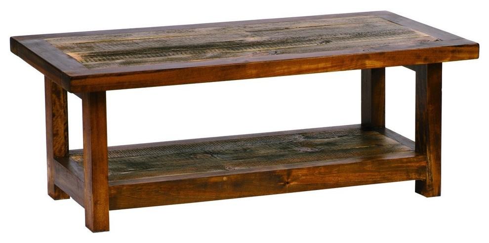 reclaimed wood coffee table 48x24
