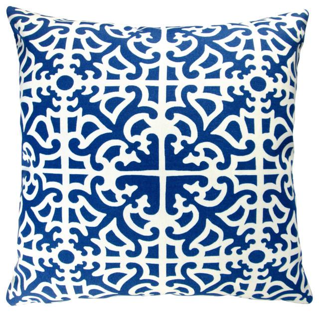 artisan pillows outdoor 18 indigo blue geometric throw pillow set of 2 throw
