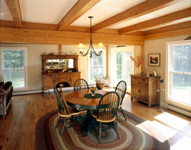 Valley Farmhouse Farmhouse Dining Room Boston By