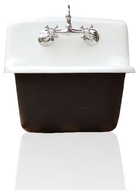 Deep Utility Sink Antique Style Cast Iron Porcelain Farm