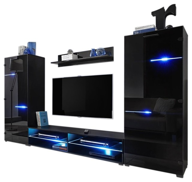 MEBLE FURNITURE Amp RUGS Modern Entertainment Center Wall