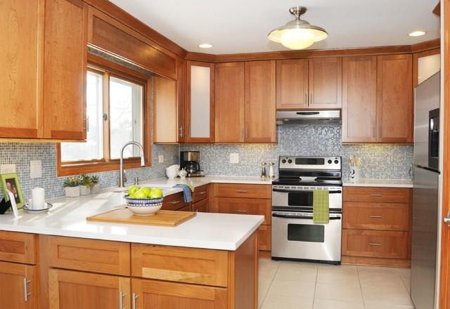 Blue Amp White Modern Country Kitchen Modern Kitchen