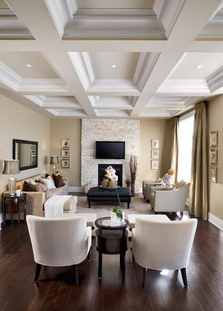 """Jane Lockhart Interior Design, Kylemore Model Home """"Dublin"""" traditional-living-room"""