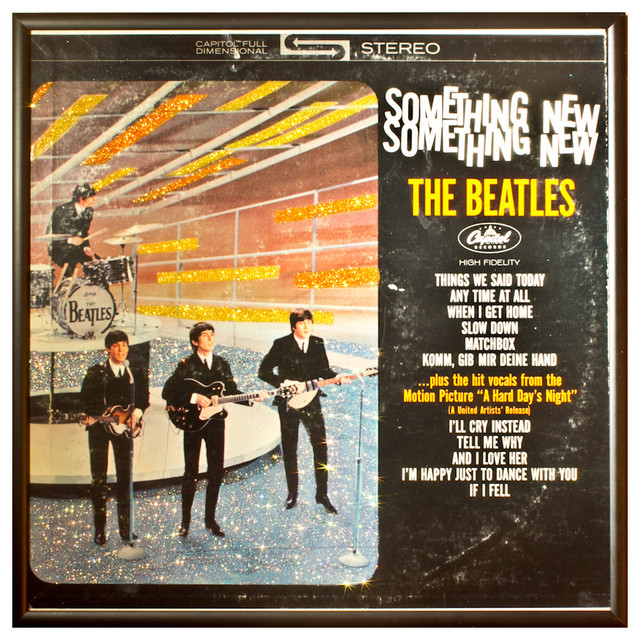 Glittered Vintage Beatles Something New Album Cover