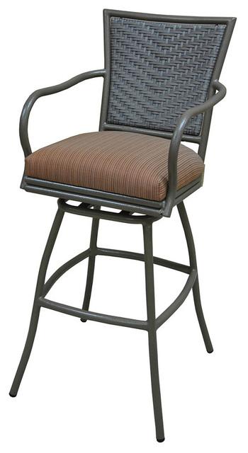 erin brown frame 30inch bar height terracota outdoor swivel bar stool terracota