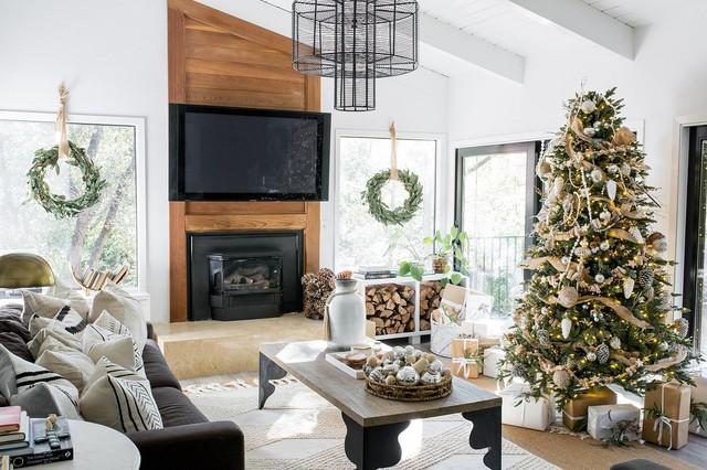 Whitney's Christmas House Tour - Featured in Sacramento Magazine farmhouse-living-room
