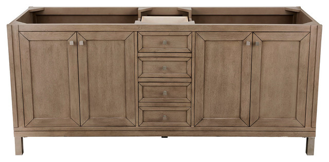 chicago 72 double vanity white washed walnut without top