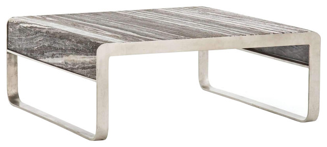 gray marble coffee table square low steel