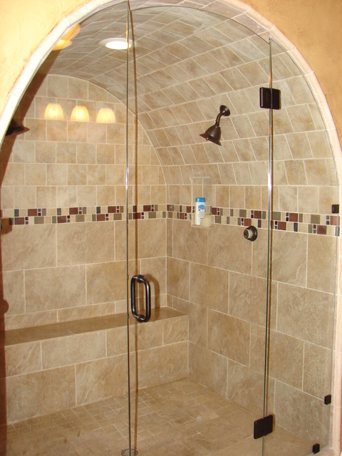 The Cave Shower Traditional Bathroom Dallas By