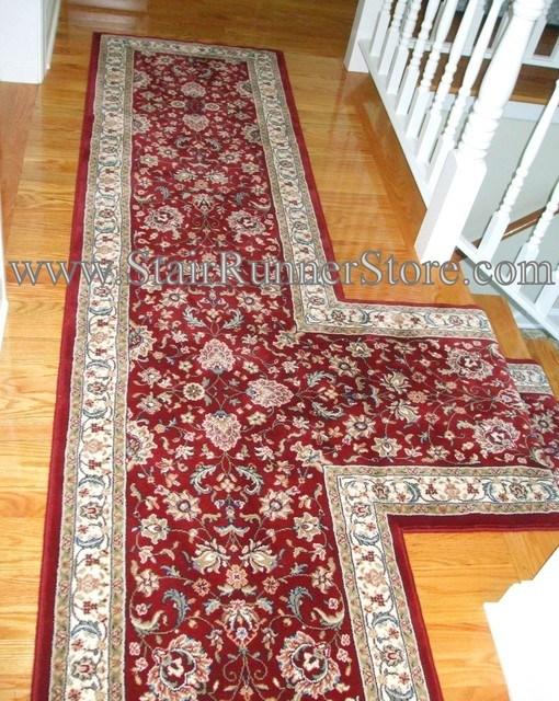 T Landing Or Hallway Stair Runner American Traditional | Hall Stairs Landing Carpet | Colour | Stair Turn | Wood Floor Hallway Str*P | Twist Pile | Runners