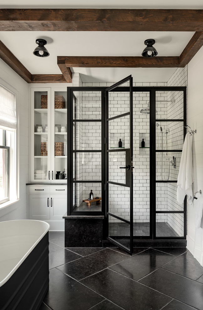 Modern Farmhouse Upstate Farmhouse Bathroom New York