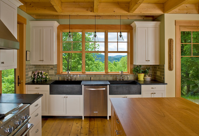 Vermont Hilltop Home traditional-kitchen