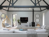 transitional-living-room Houzz Tour: English Victorian Mixes Old and New (20 photos)