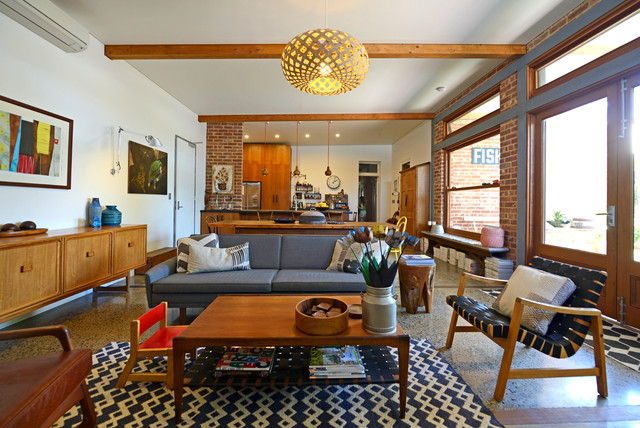 My Houzz: Connecting Work and Play in South Australia midcentury-living-room