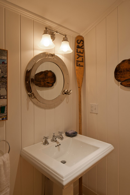 Provincetown Beach House beach-style-powder-room
