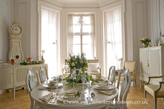 Swedish Gustavian Dining Room traditional-dining-room