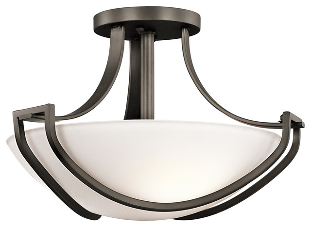Kichler 42651CH Semi Flush 3Lt Transitional Flush