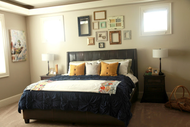 pretty frames on the wall - eclectic - bedroom - portland
