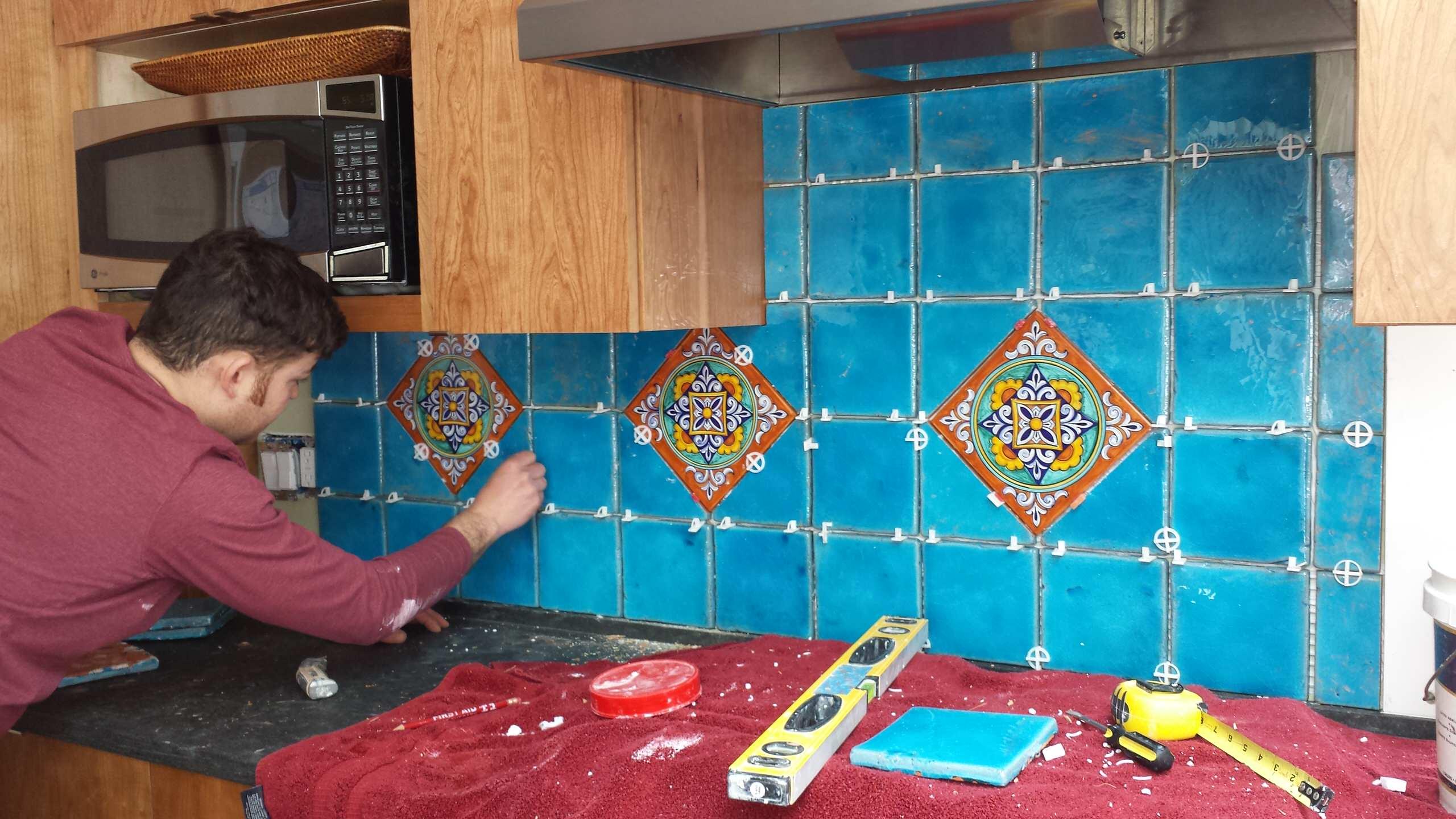 italian tile backsplash houzz