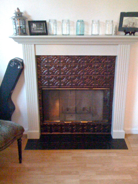 Fireplace Facelift Eclectic Family Room San