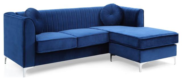 delray sofa chaise gray navy blue