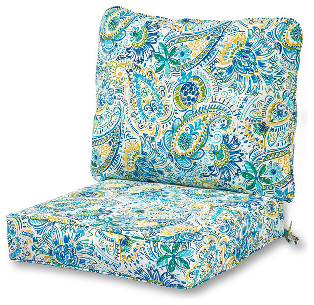 outdoor 2 piece deep seat cushion set baltic