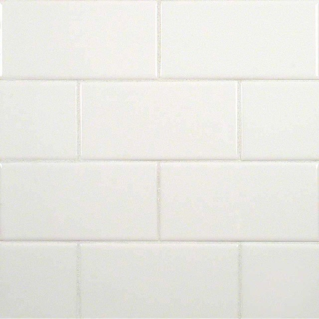 subway glossy ceramic tile white sample