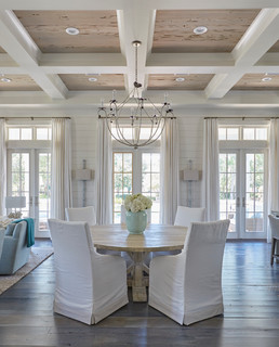 Sand Hill Residence beach-style-dining-room