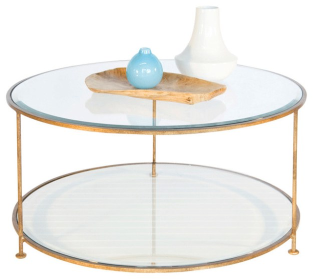 worlds away iron round coffee table with beveled glass top rollo