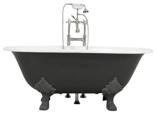 "The Greyfriars 61"" Cast Iron Double Ended Tub With Drain"