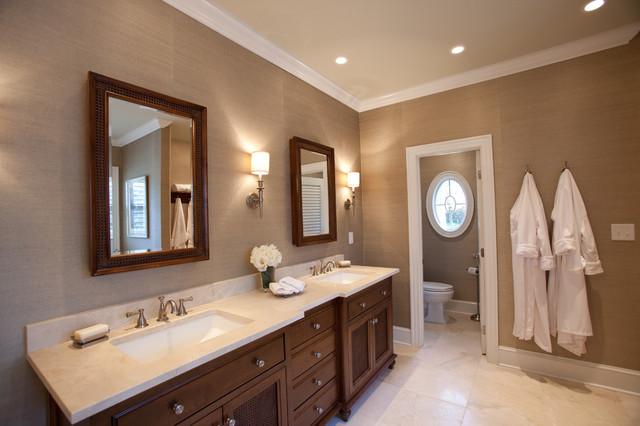 British Colonial Master Suite Traditional Bathroom