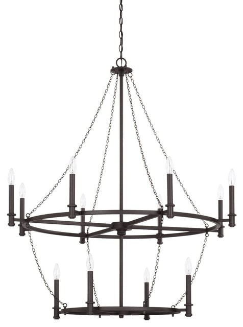 capital lighting lancaster 12 light chandelier 528701bi black iron