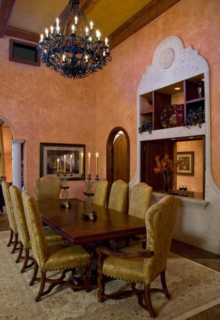 Tuscan Villa Mediterranean Dining Room Miami By JMA INTERIOR DESIGN