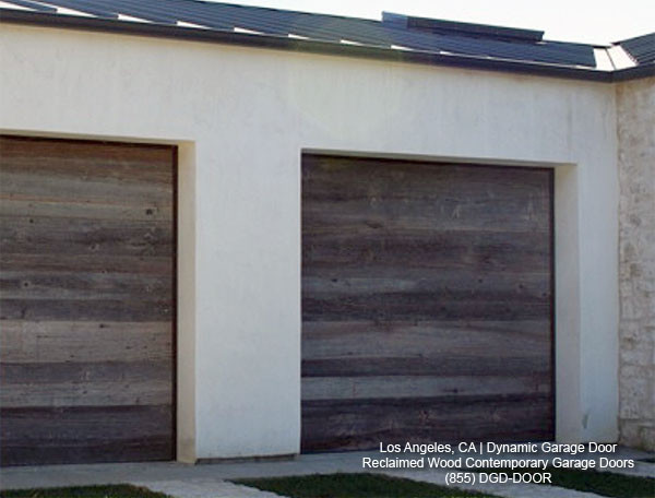 Contemporary Garage Doors Crafted In Rustic, Reclaimed