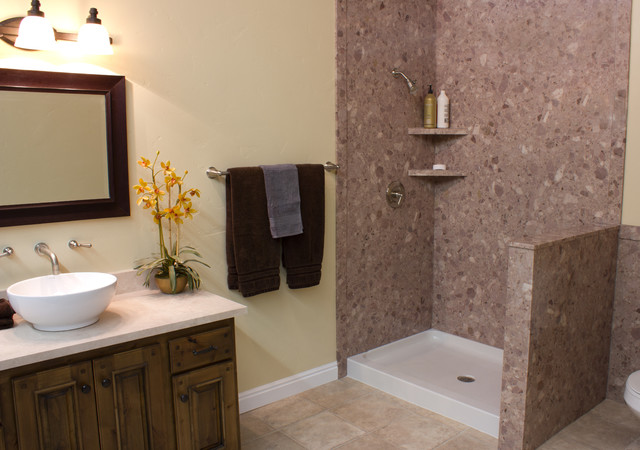 decorative interior shower & tub wall panels - contemporary