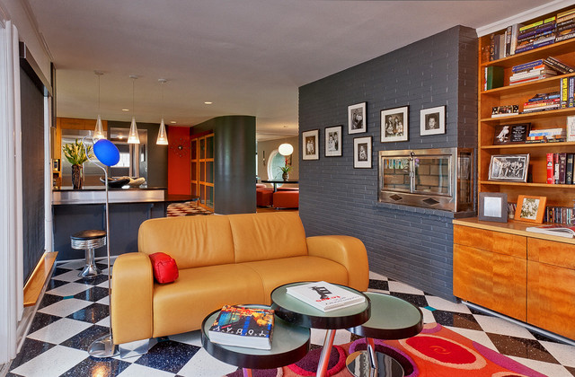 Mod Space Contemporary Living Room Nashville By