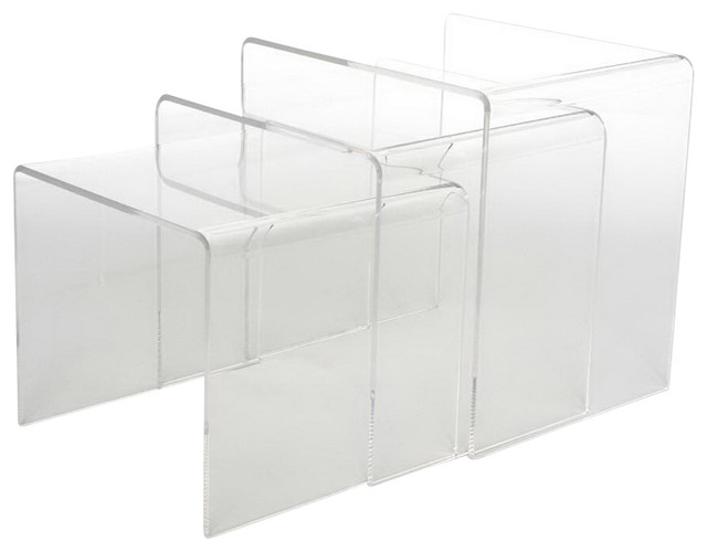 Acrylic Nesting Tables, Set Of 3